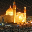 The shrine of Imam Ali in Najaf, shown here in 2007, is one of the holiest Shiite Muslim sites. The quiet city is home to numerous clerics, who traditionally do not involve themselves in politics.